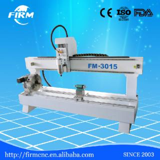 FIRM hot sale 3d woodworking cylinder cnc router FM3015