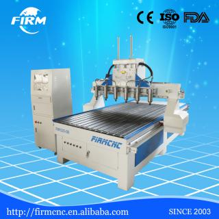 Multi spindle wood MDF engraving cutting cnc router