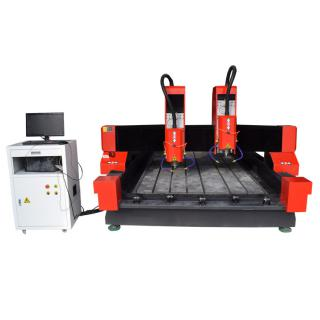 Heavy Duty Two Heads CNC Router stone engraving machine