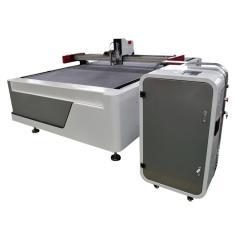 Cnc oscillating knife cutter Pressure roller indentation display