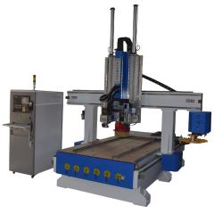 China Atc Wood Carving Machine 1325 4 Axis CNC Router with Drilling Saw